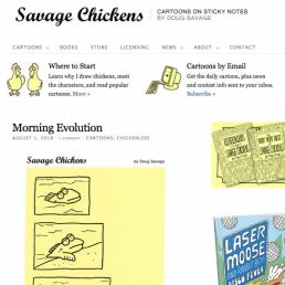charlotte overton itchypalm graphic design comic books savage chickens