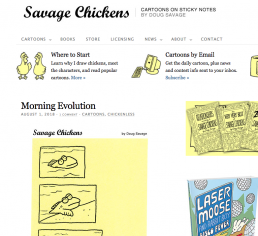 charlotte overton itchypalm graphic design comic books savage chickens