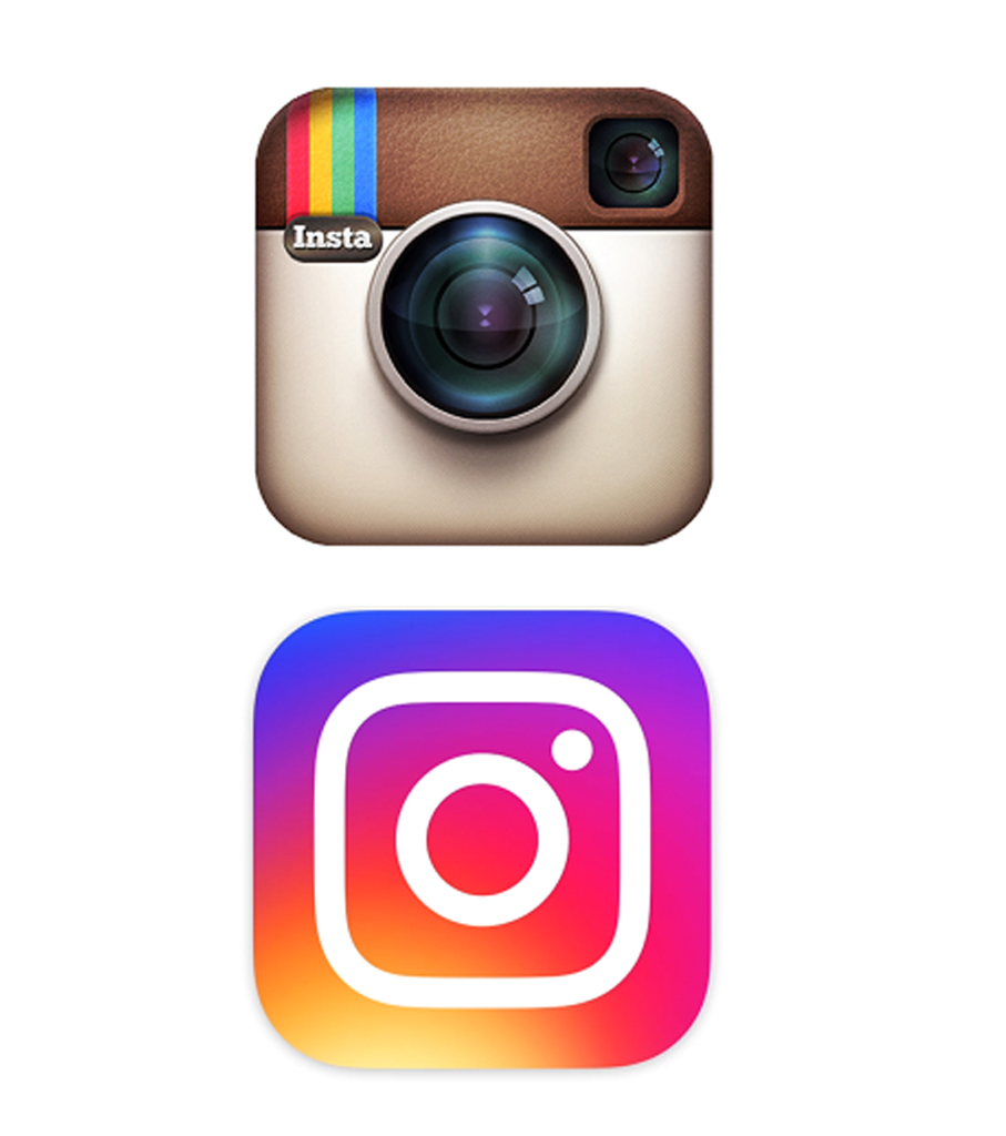 INSTAGRAM REBRAND OLD LOGO VS NEW LOGO ITCHYPALM LEEDS SHEFFIELD GRAPHIC DESIGNER FREELANCE